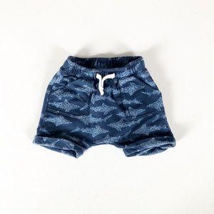 Blue Drawstring Shorts